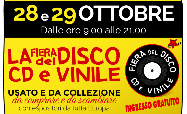 cd espositori fiera del disco mercatino quasar village vinile eventiecultura