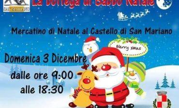 """Prodotti tipici e una sorpresa per i più piccoli. A San Mariano sbarca """"La Bottega di Babbo Natale"""""""