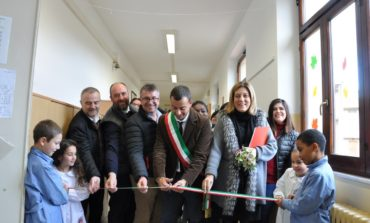 La Presidente Marini alla riconsegna delle scuole corcianesi dopo i lavori costati oltre 410 mila euro