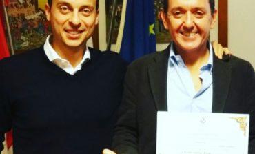 Filippo Poponesi ricevuto in Comune: lo sport che rende migliori