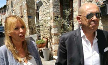 Alessandra Mussolini in visita a Corciano: l'Umbria merita di stare fra le grandi regioni