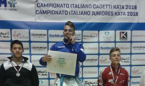 alessandro cricco arti marziali campionati karate kata medaglia oro roma migiana sport