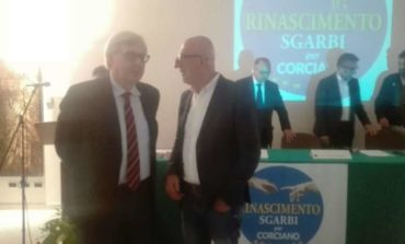 Elezioni: Sgarbi torna a Corciano, intanto la lista Rinascimento incontra Franco Testi
