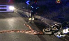 Sbanda con la moto nella notte, muore motociclista di 42 anni
