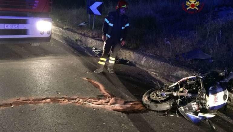 118 incidente motociclista vigili del fuoco cronaca taverne