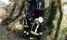 Incidente stradale tra Ellera e Corciano, un auto fuori strada: foto