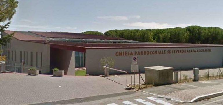 carabinieri chiesa furto girasole ladri videosorveglianza cronaca san-mariano