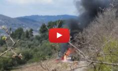 Incendio a Corciano, i vigili del fuoco intervengono con tre mezzi