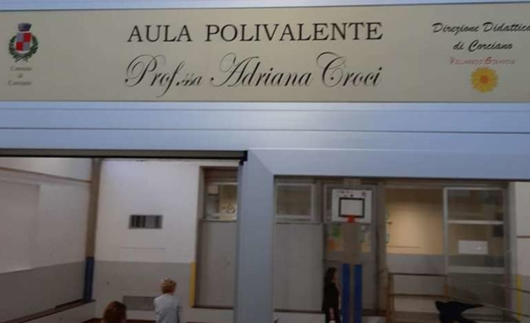 Intitolata ad Adriana Croci la Sala Polivalente della scuola del Girasole