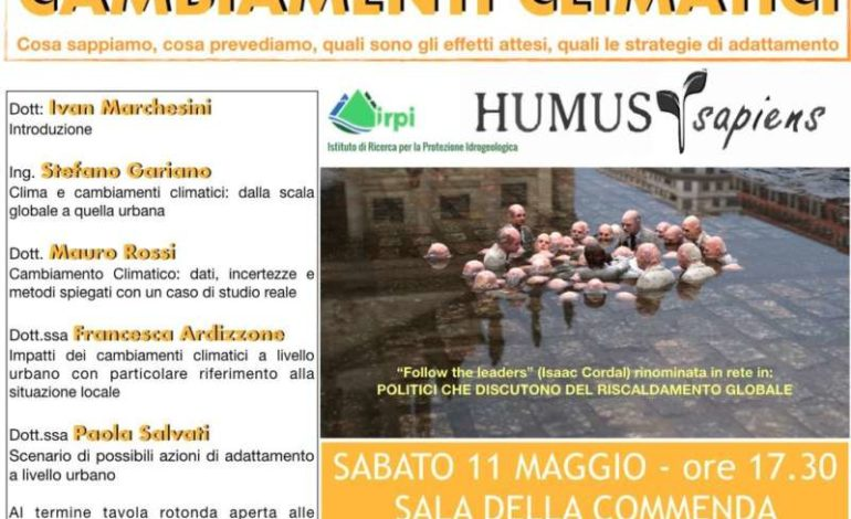 Cambiamenti climatici: se ne parlerà all'evento organizzato da Humus Sapiens
