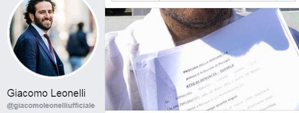 #fratelliditalia diffamazione giacomo leonelli lega m5s pd querela politica