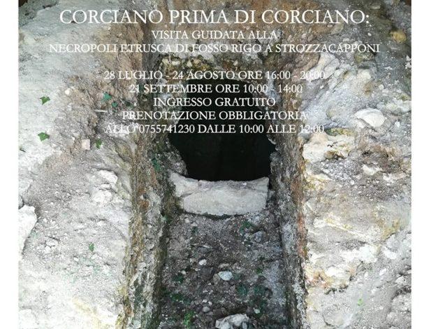 """""""Corciano Prima di Corciano"""" visita guidata gratuita alla necropoli etrusca di Fosso Rigo"""