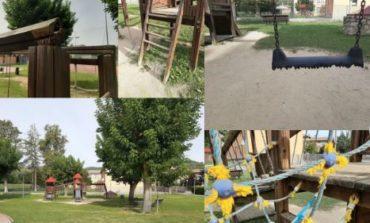 Il parco giochi di Mantignana è ridotto male