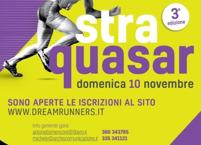"""A novembre torna la gara podistica """"Straquasar"""""""