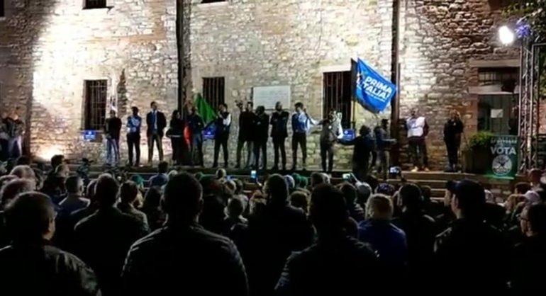 """Regionali, Matteo Salvini a Corciano: """"Mai atteso elezioni come queste"""""""