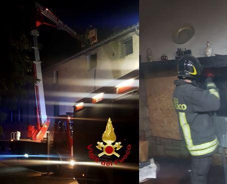 camino canna fumaria incendio vigili del fuoco cronaca taverne