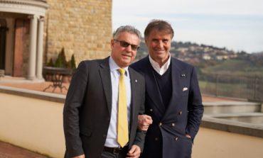 Torre civica di Norcia, il sindaco Alemanno e l'imprenditore Cucinelli fanno il punto sugli interventi