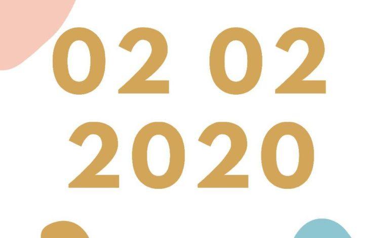 02022020 data palindroma palindromo glocal