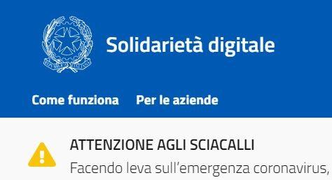 coronavirus governo Solidarietà digitale glocal