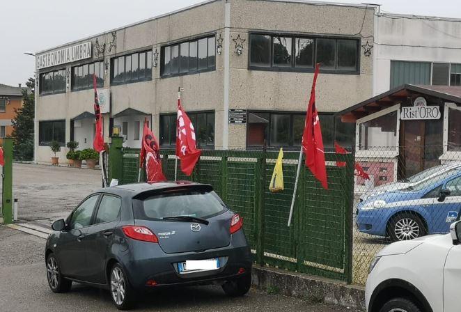cgil gastronomia umbra lavoratori picchetto sciopero sindacati tensioni economia taverne