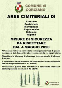 cimiteri comune covid Cristian Betti riapertura cronaca