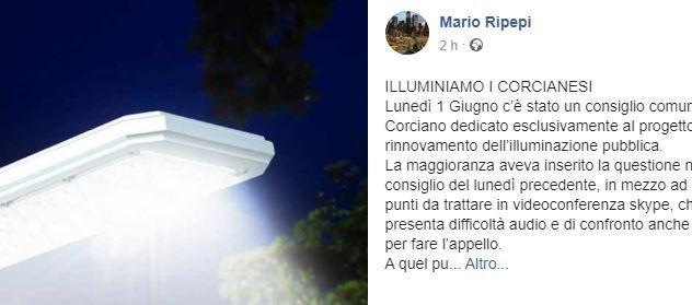 consiglio comunale illuminazione pubblica m5s mario ripepi politica